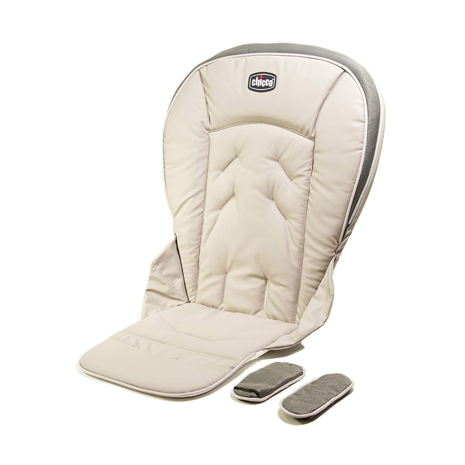 Chicco Polly 13 Highchair Replacement Seat Cushion and Harness Shoulder Pads Papyrus
