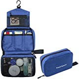 Hanging Travel Toiletry Bag Makeup Organizer for Cosmetics, Toiletries & Travel Accessories Portable and Waterproof Bathroom Bag For Women Girls (Blue)
