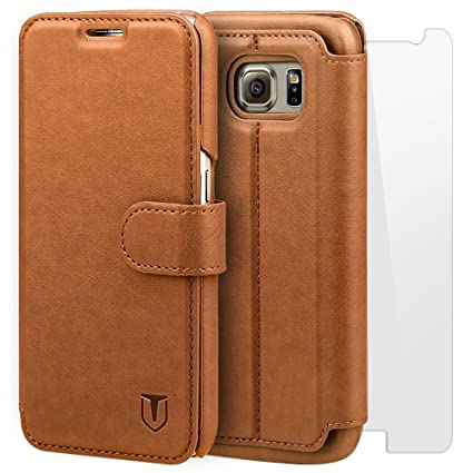 new style 806f4 ec115 TANNC Galaxy S6 Case [Screen Protector Included] Flip Leather Wallet Phone  Case [Layered Dandy] - [Card Slot][Flip][Wallet] - For SAMSUNG Galaxy S6 ...