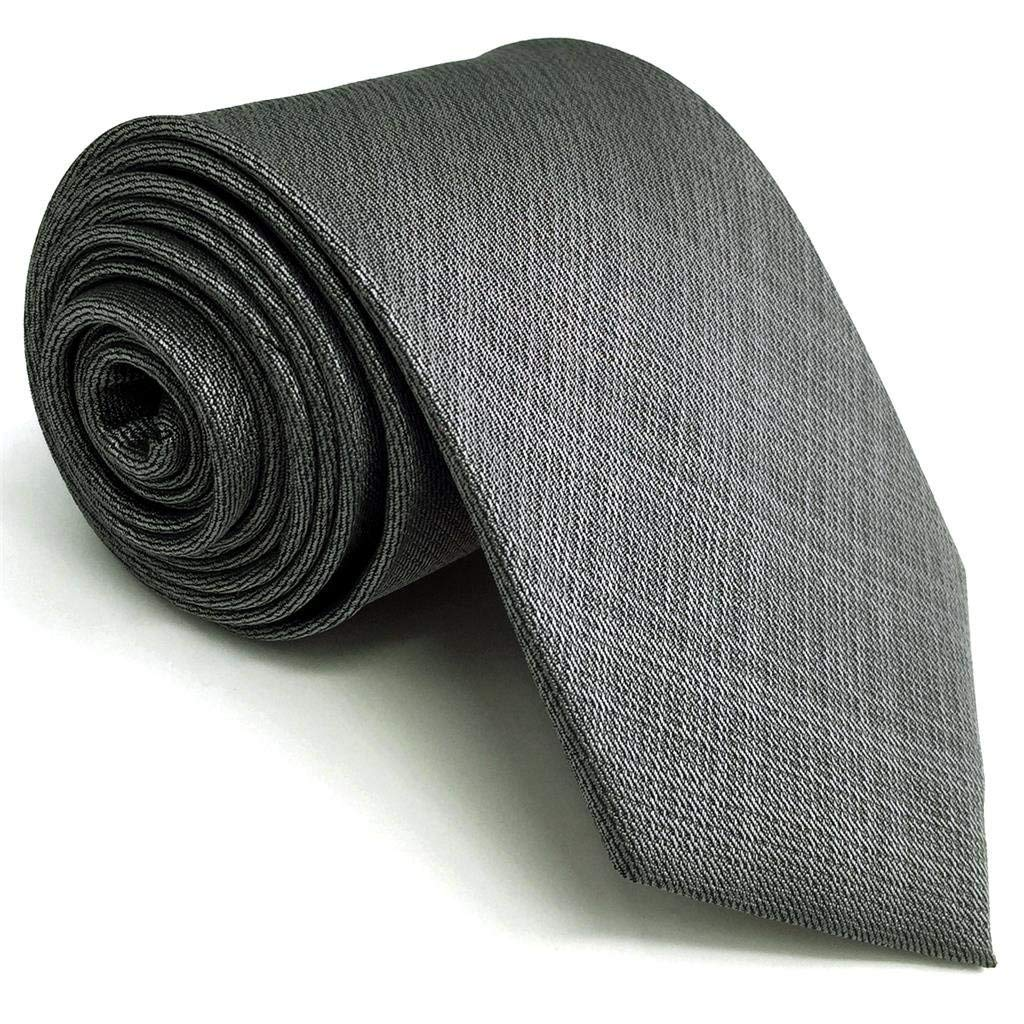 Shlax&Wing Solid Color Grey Mens Neckties Ties Business Suit XL 63'' 57.5'' Classic
