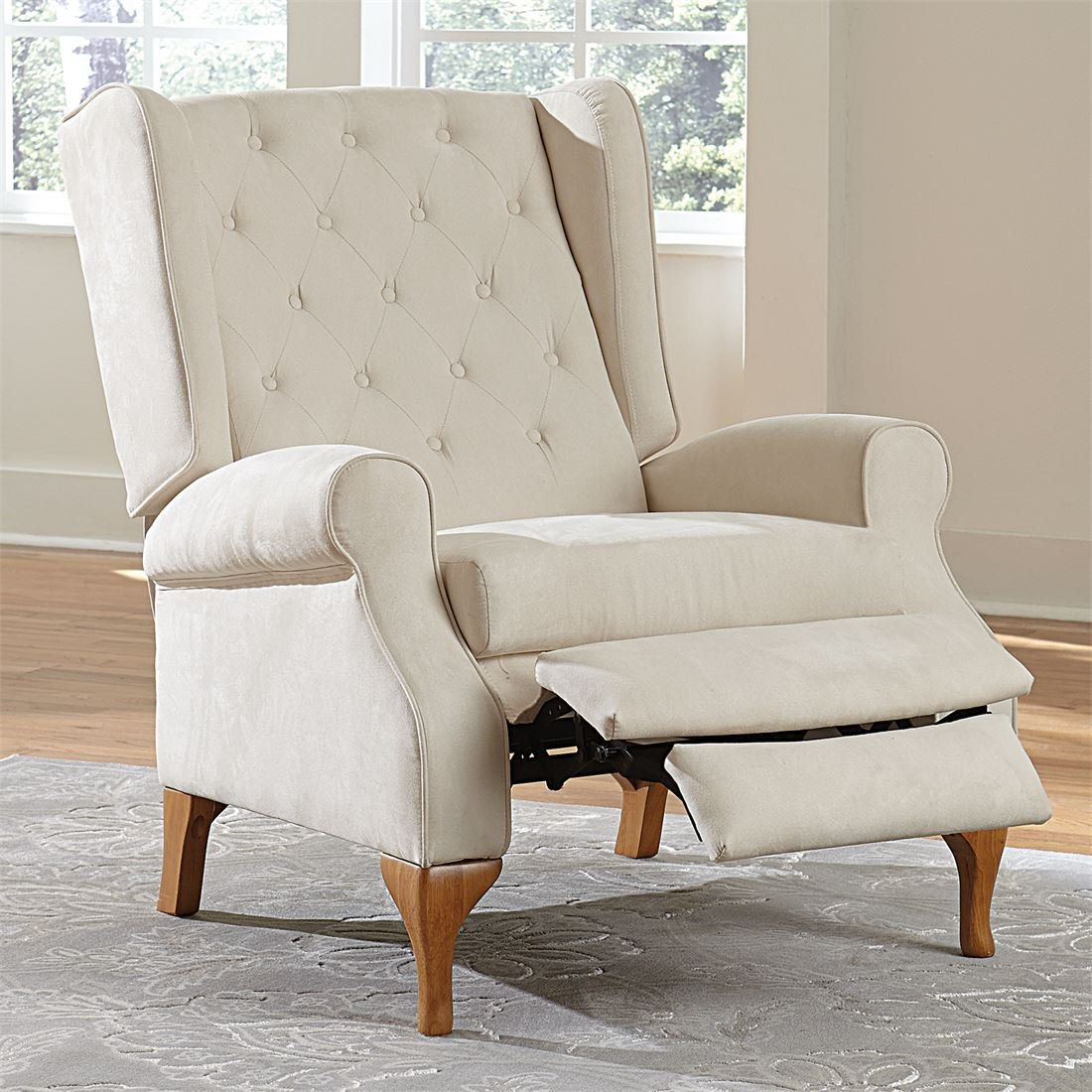 Amazon.com Brylanehome Queen Anne Style Tufted Wingback Recliner (Ivory0) Kitchen u0026 Dining  sc 1 st  Amazon.com & Amazon.com: Brylanehome Queen Anne Style Tufted Wingback Recliner ... islam-shia.org