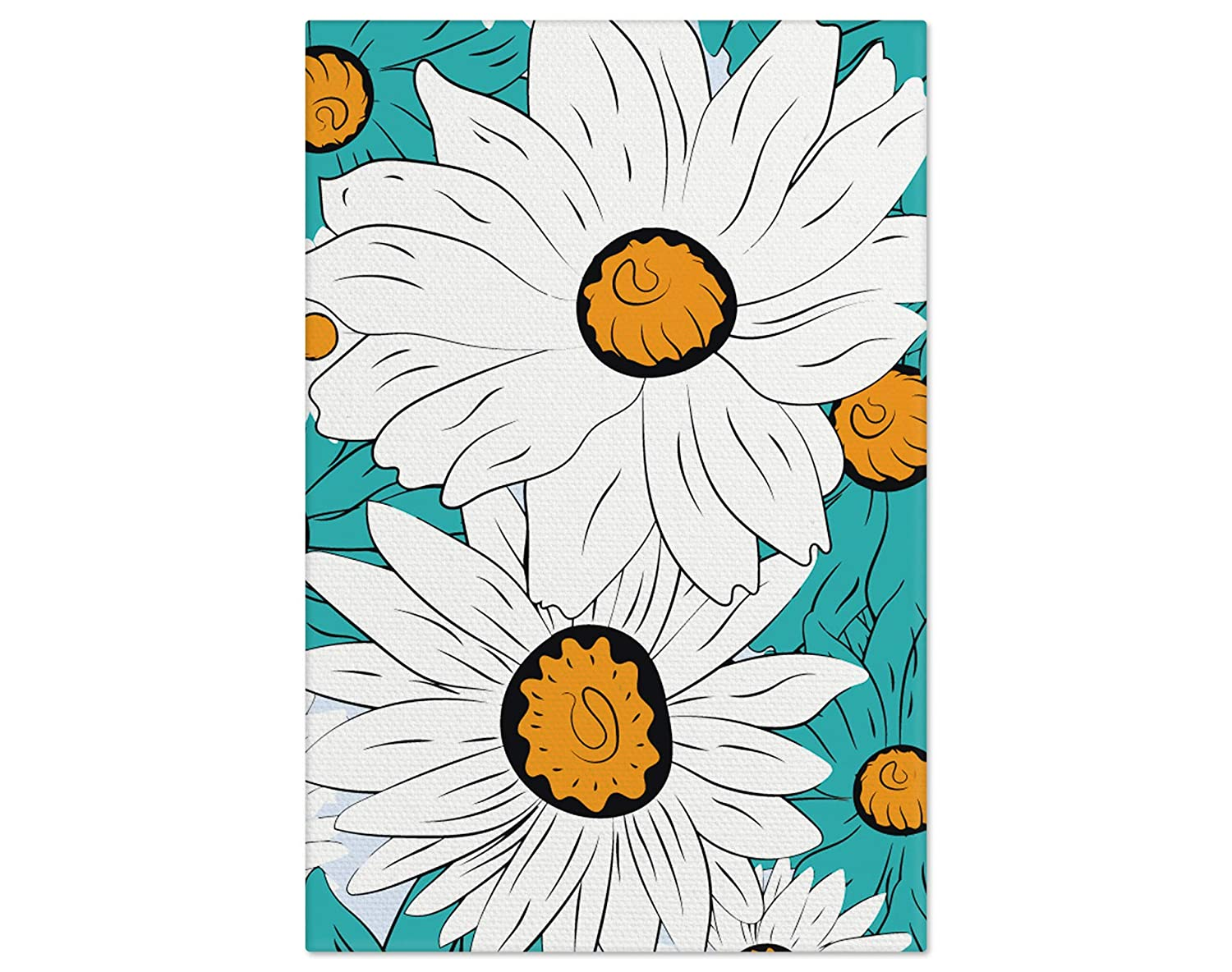 Flowers Home Decor DIY Adult Floral Painting by Numbers White Flowers Picture Divided by Numbers Kit for Adult with Unique Design Perfect Gift