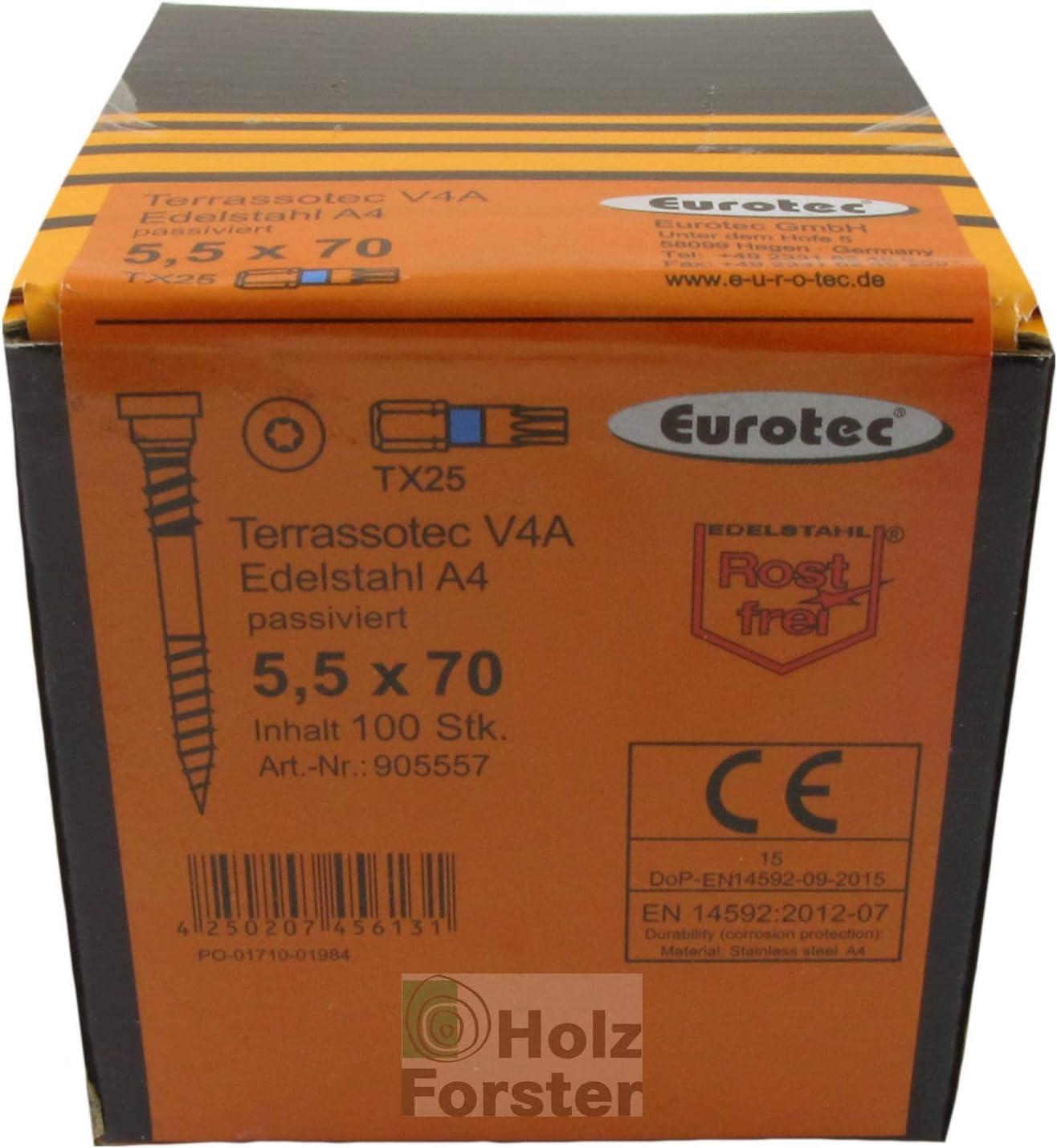 EUROTEC Terrassotec Trilobular V4A 5,5x90mm 100 St/ück