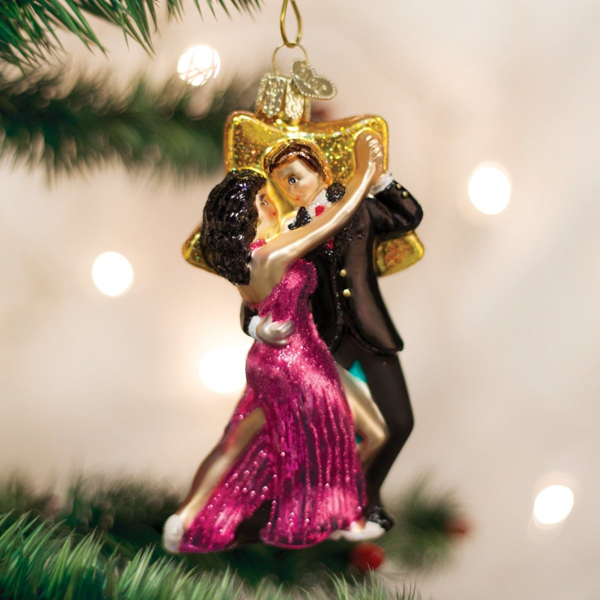 Amazon.com: Old World Christmas Star Dancers Glass Blown Ornament ...