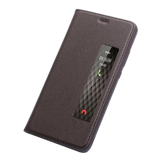 33 opinioni per ERLI Huawei P10 Plus VERA PELLE Custodia , Ultra-Sottile Clamshell Con ID
