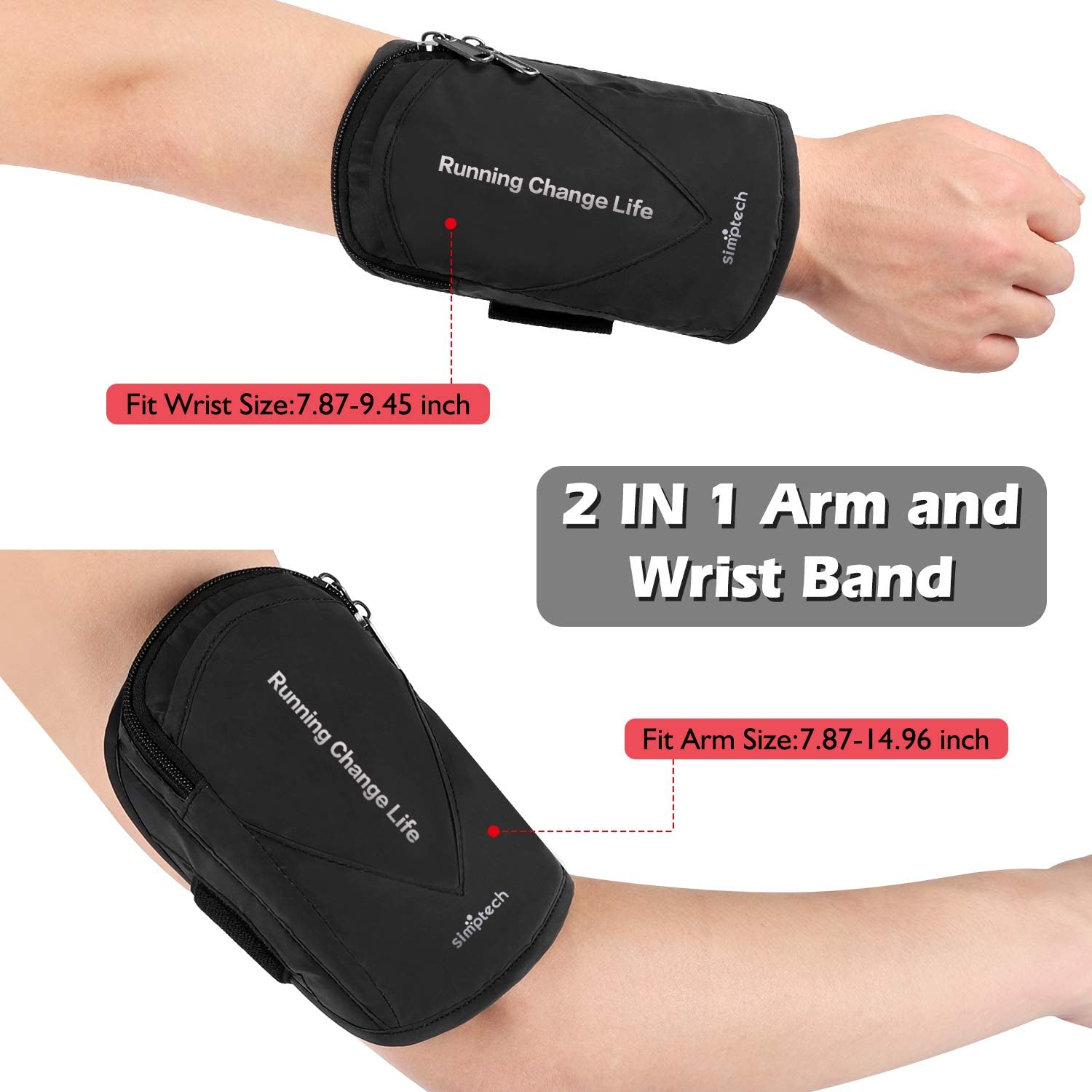 Galaxy S10//S9//S8 Plus and Note10//9//8 simptech Running Phone Armband Sweatproof Workout Phone Holder for iPhone 11 Pro Max//Xr//Xs Max//X//8//7 Plus