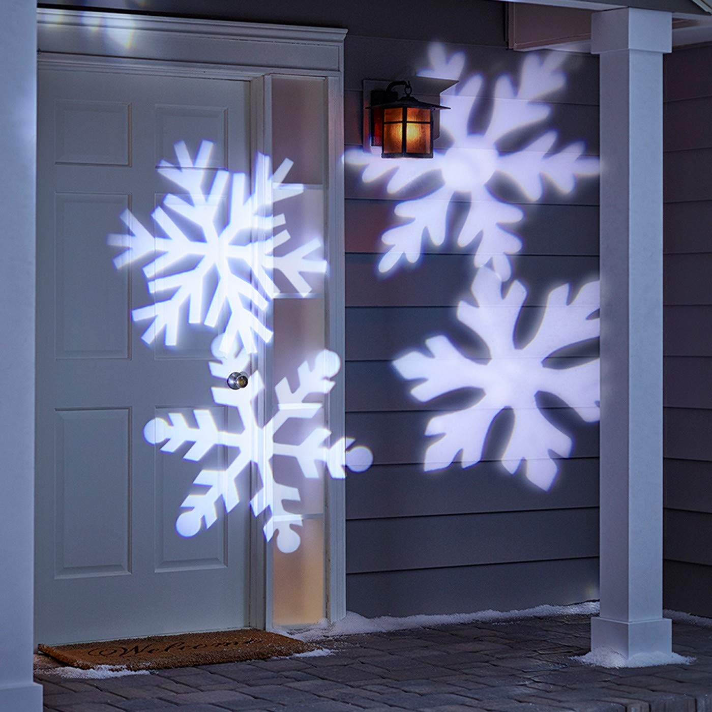Amazon LED Rotating White Snowflakes Indoor Outdoor Christmas