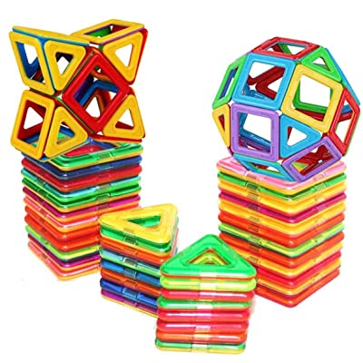 E-TOP Magnetic Building Blocks Set Magnetic Tiles Educational Toys 30 PCS: Toys & Games