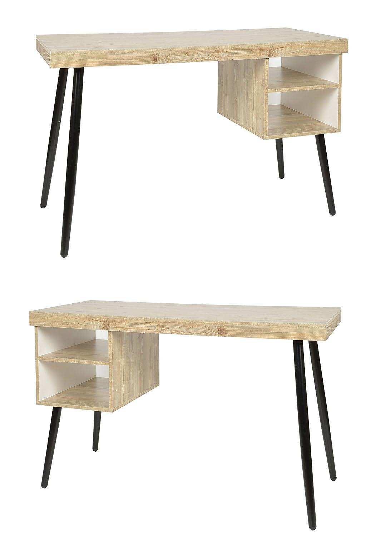 ts-ideen Design Holz Schreibtisch Computer Arbeitstisch Konsole MDF+ ...