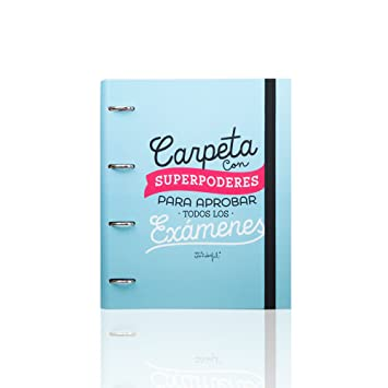 "Mr. Wonderful - Carpeta con anillas, diseño ""Carpeta con superpoderes para aprobar"