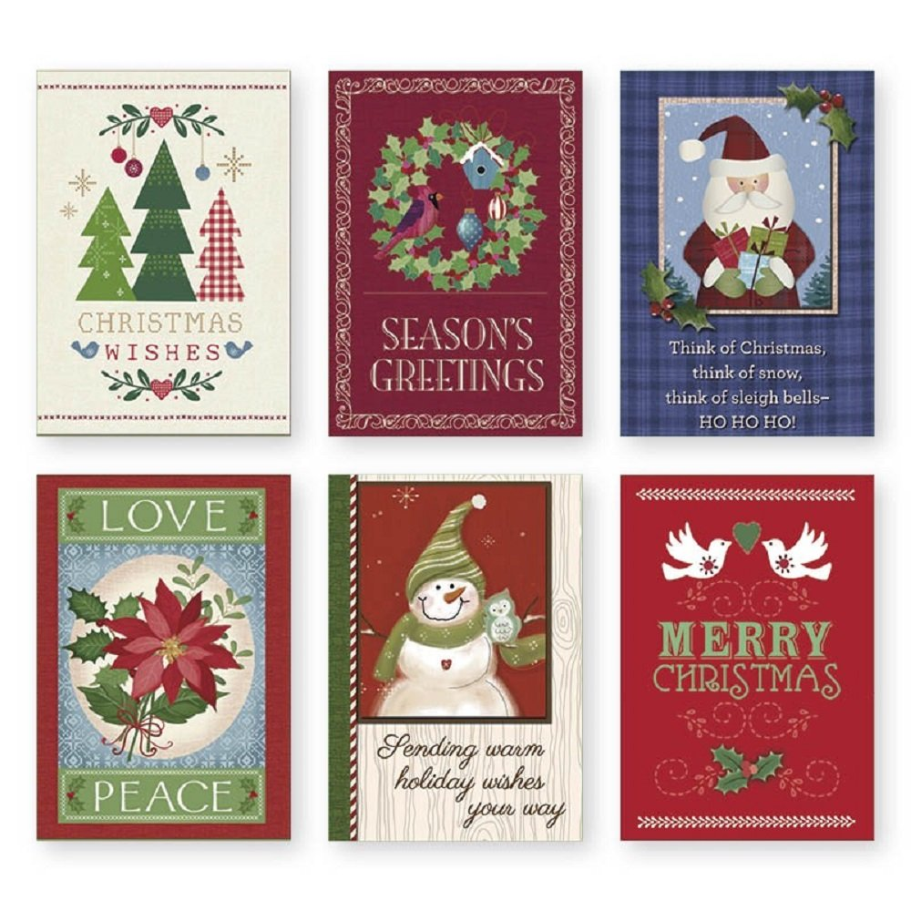 Amazon Christmas Holiday Boxed Cards Xmas Box Set Assortment