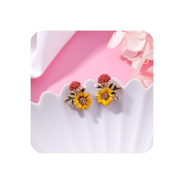 Earrings Woman Girl Flower Mushroom Restoring Ancient Ways Earrings Stud Earrings For Women