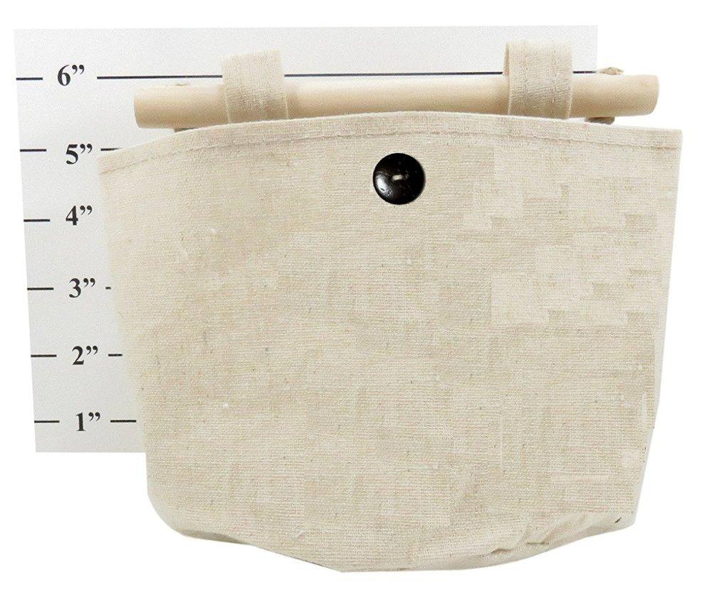 Fabric Linen Wall Door Closet Storage Hanging Bag Organizer Office Art Supplies 7.5 x 6 Beige Daiso Japan Set of 2