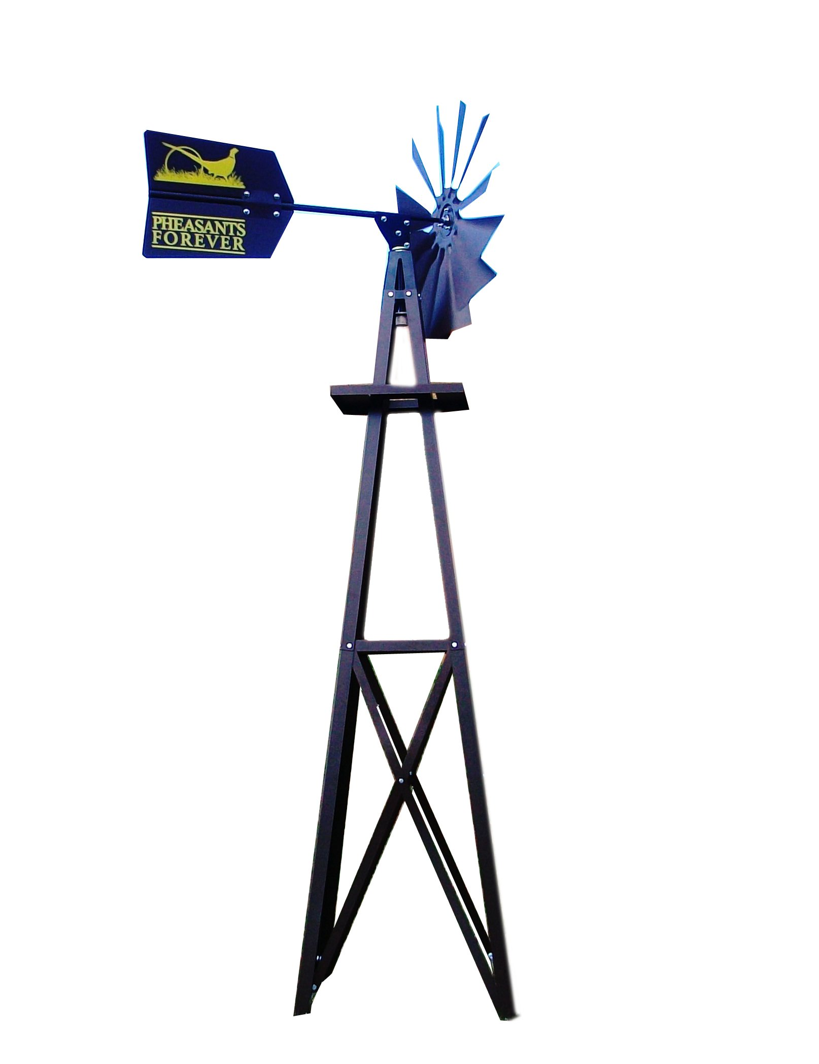 Outdoor Water Solutions BYW0118 Small Pheasants Forever Bronze Powder Coated Backyard Windmill by Outdoor Water Solutions