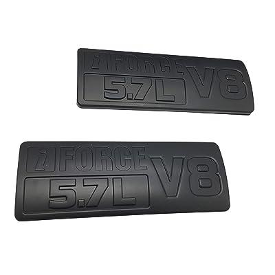 Matte Black IFORCE 5.7L V8 Emblem 3D IFORCE 5.7L V8 Side Emblem Decal 3D Door Nameplate Badge Sticker for Tundra TRD PRO IFORCE, Pack of 2: Automotive
