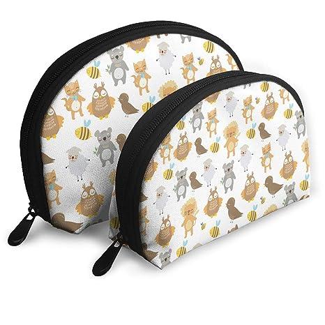 d346baaa4b47 Amazon.com: 2 PCS Cute Animals Pattern Toiletry Bag - Multifunction ...