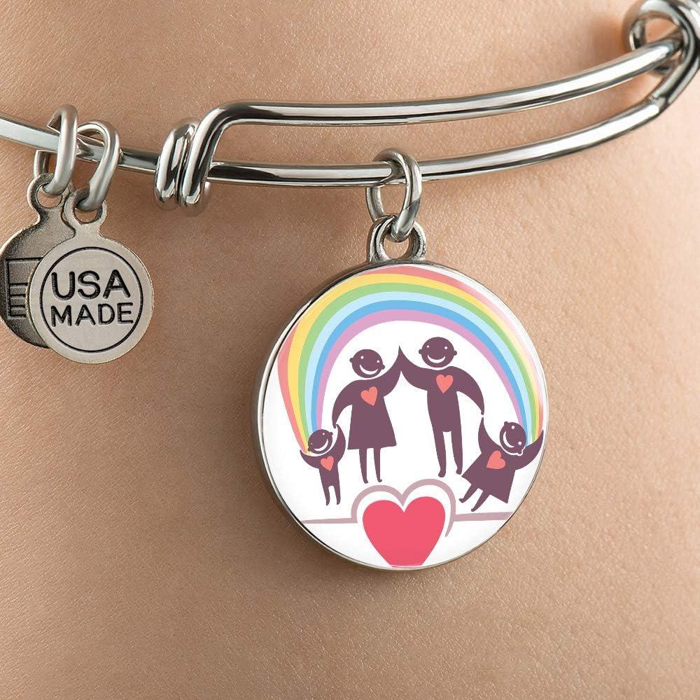 NanaTheNoodle Family Under The Rainbow Luxury Bangle