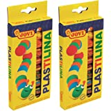 Jovi 5 oz. Rolls, Set of 20, Perfect for Arts and Crafts Projects Plastilina Reusable and Non-Drying Modeling Clay, Multicolo