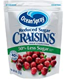 Ocean Spray Craisins Dried Cranberries, Reduced Sugar, 8 Ounce