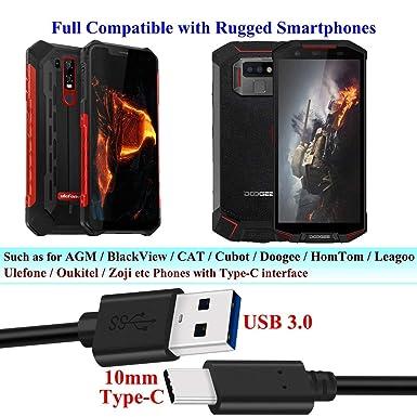 Amazon.com: Cable de carga rápida USB tipo C de punta larga ...