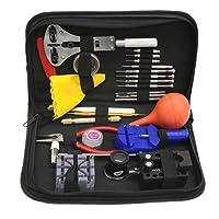 Set di strumenti di alta qualità 27pcs Set di strumenti di riparazione dell'orologio Kit di orologi Set di orologi con cinturino nero Orologi e accessori