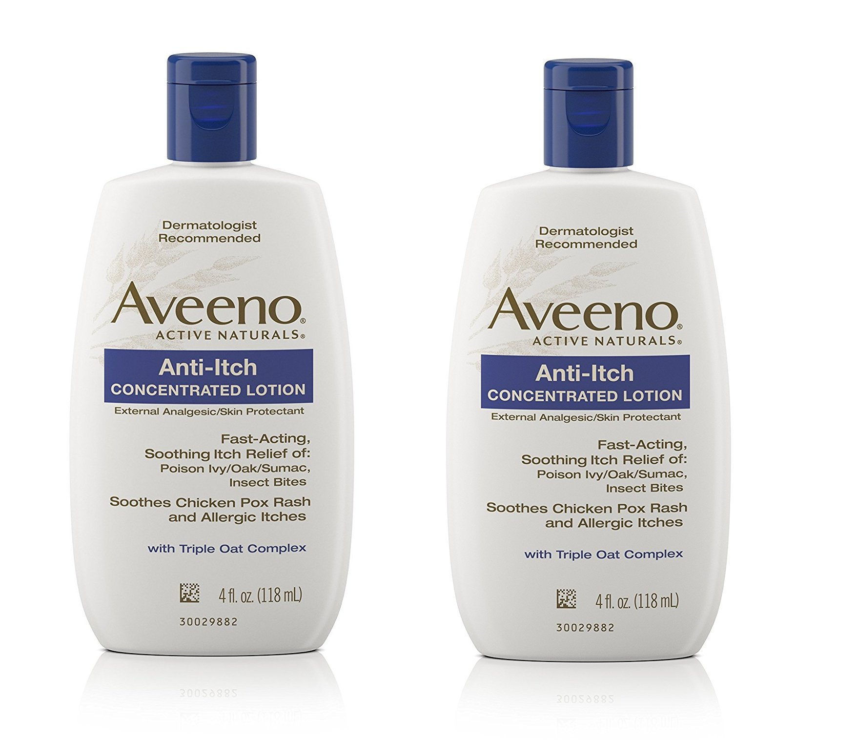AVEENO Anti-Itch Concentrated Lotion 4 OZ - Buy Packs and SAVE (Pack of 2)