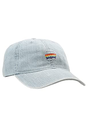 b667870e Levi's Pride Strapback Cap s Base Cap Cotton Cap (One Size - Denim ...