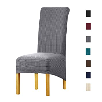 Remarkable Keluina Special Xl Size Long Back Jacquard Stretch Dining Chair Slipcovers Spandex Plush Short Chair Covers Solid Large Dining Room Chair Protector Uwap Interior Chair Design Uwaporg