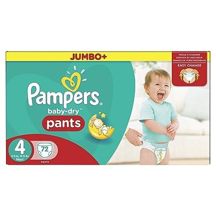 Pampers Baby-Dry Pants Pañales para Bebés, Talla 4 (8-15 kg