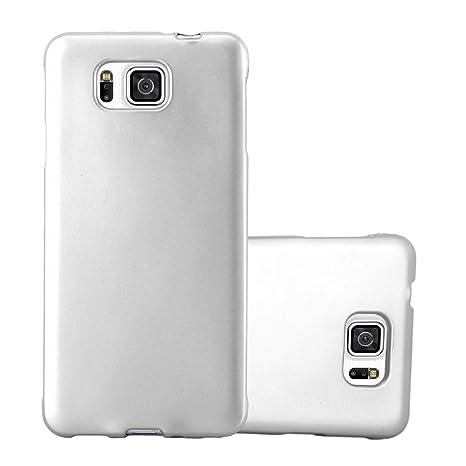 Cadorabo Funda para Samsung Galaxy Alpha en Metallic Plateado – Cubierta Proteccíon de Silicona TPU Delgada e Flexible con Antichoque – Gel Case Cover ...