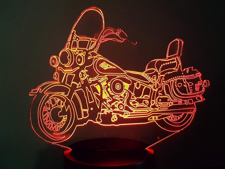 Harley Davidson Motorcycle Acrylic Engraved LED lamp