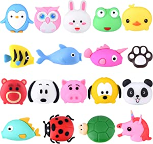 TUPARKA 18 Pcs Cable Protector for iPhone/ipad USB Lightning Cable, Plastic Cute Fish Unicorn Animals Charging Cable Saver, Phone Accessory Protect USB Charger
