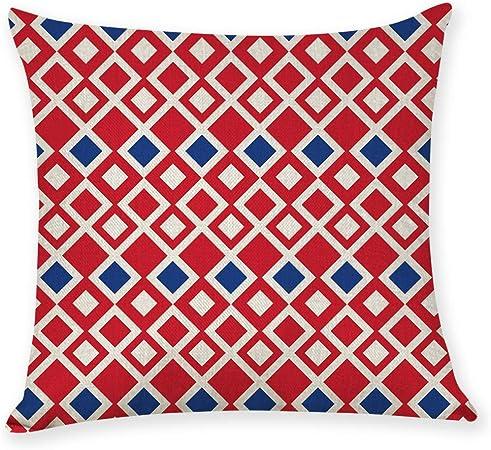 chenbyyao 2 Fundas de cojín, algodón Texturizado Lino 45 * 45 Funda de cojín de Lino G,Funda de Almohada de Manta Cuadrada con diseño geométrico, Funda de cojín: Amazon.es: Hogar