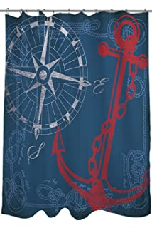 Good Manual Woodworkers U0026 Weavers Shower Curtain, Anchors Away Navy
