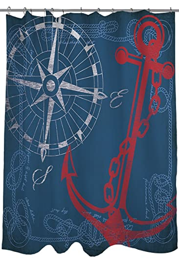 Amazon.com: Manual Woodworkers & Weavers Shower Curtain, Anchors ...