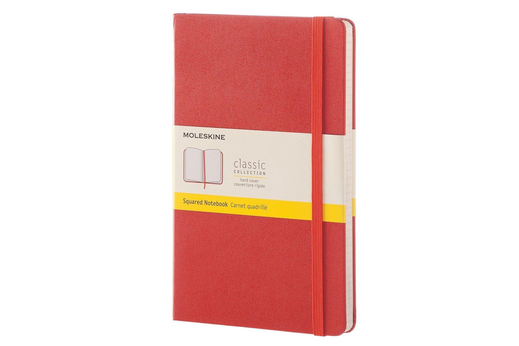 Moleskine Classic Notebook, Large, Squared, Coral Orange, Hard Cover (5 x  8.25): Moleskine: 8051272893779: Amazon.com: Books