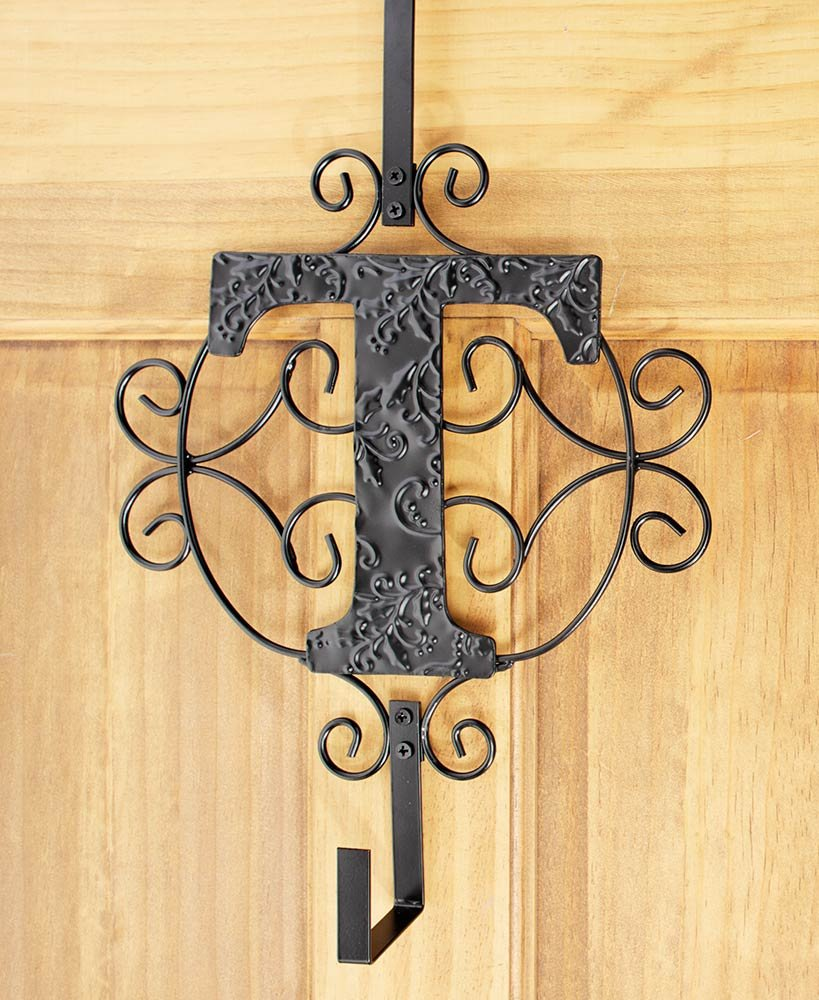 LTD Monogram Wreath Hanger, T by LTD