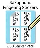 Saxophone Fingering Stickers Set (250 Pack) Super