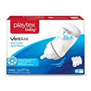 Playtex Baby Ventaire Anti Colic Baby Bottle, BPA Free, 6 Ounce - 3 count
