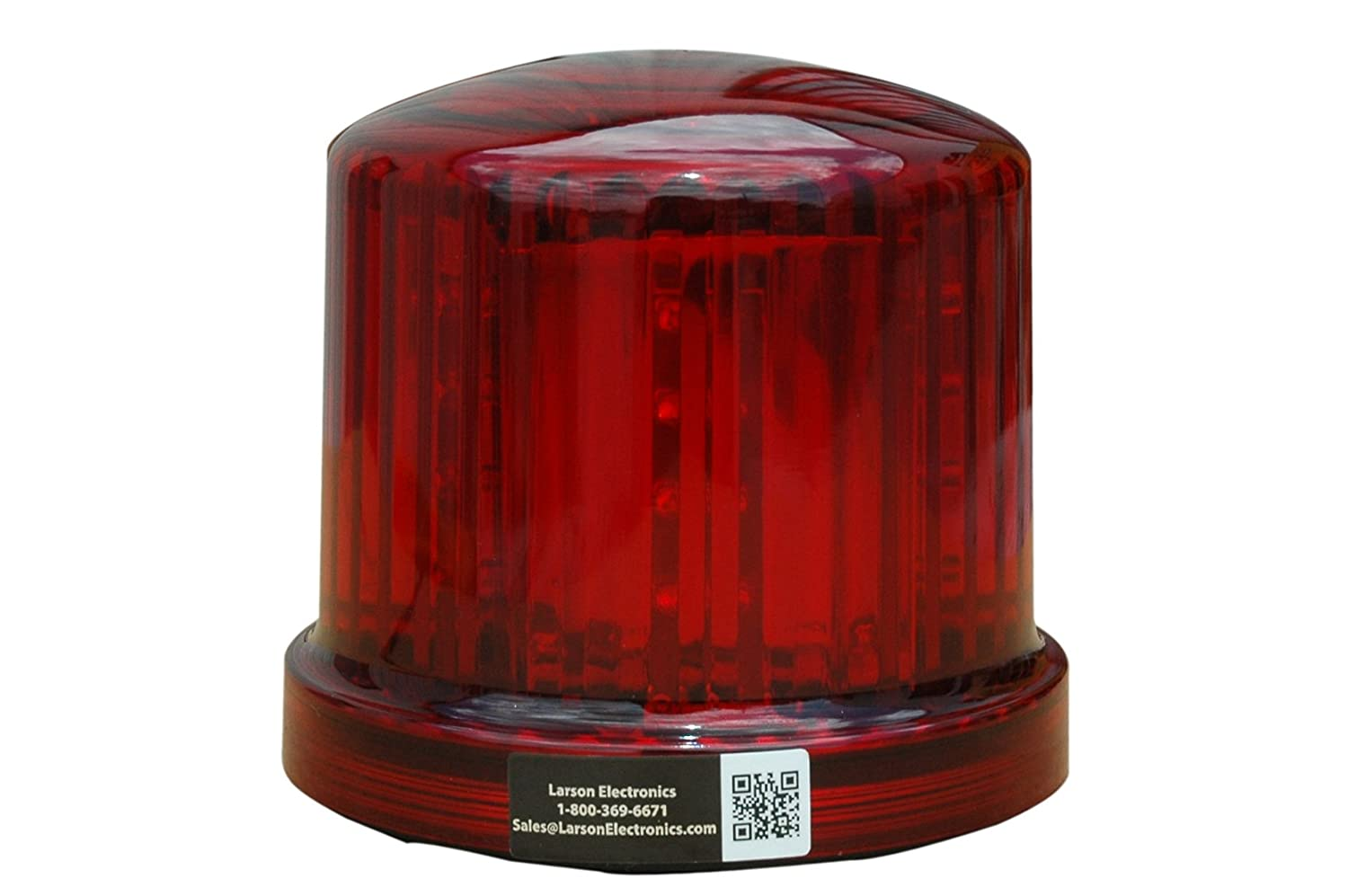 Larson Electronics SL-360-M-R Red LED 360-Degree Beacon with Magnetic Base