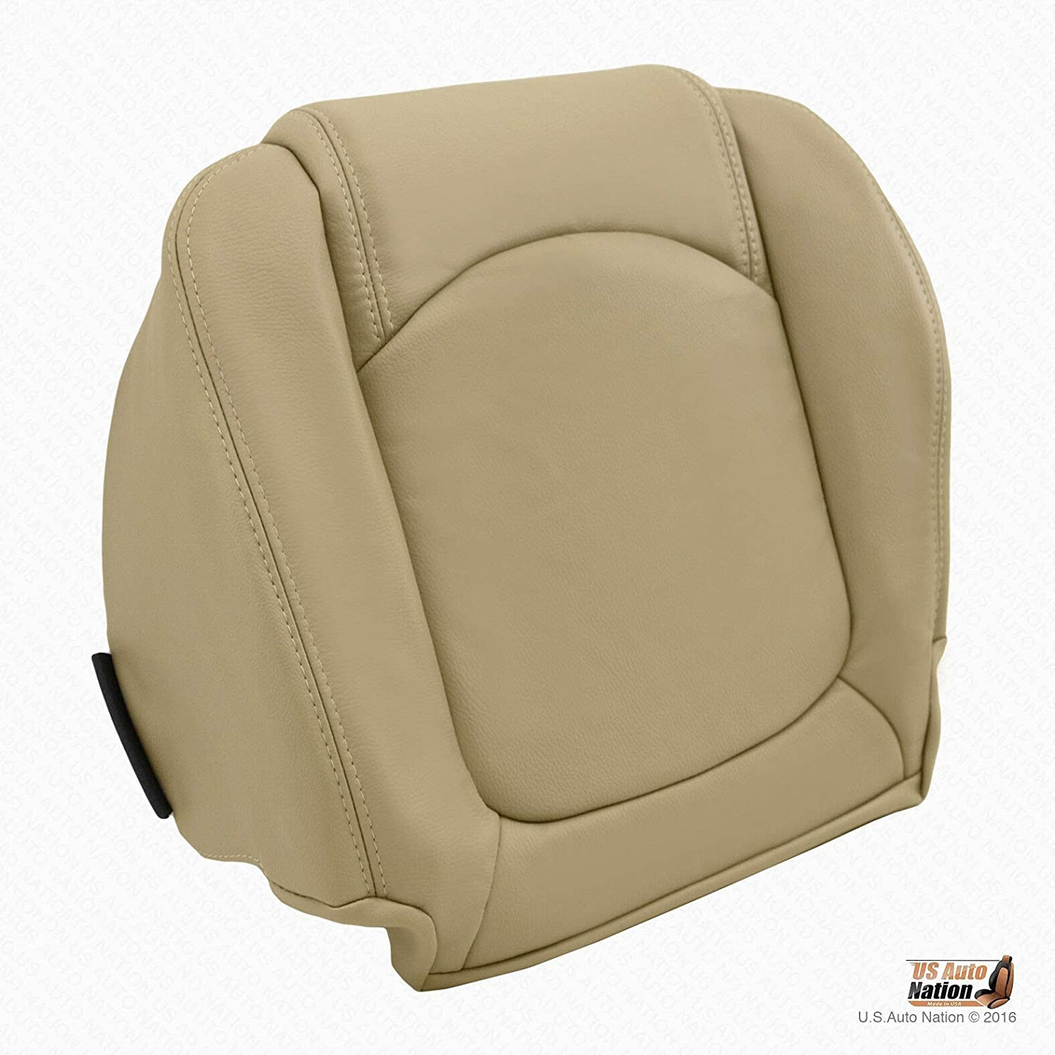 US Auto Nation to Saturn Outlook Driver Bottom Replacement Leather Seat Cover Lt Tan