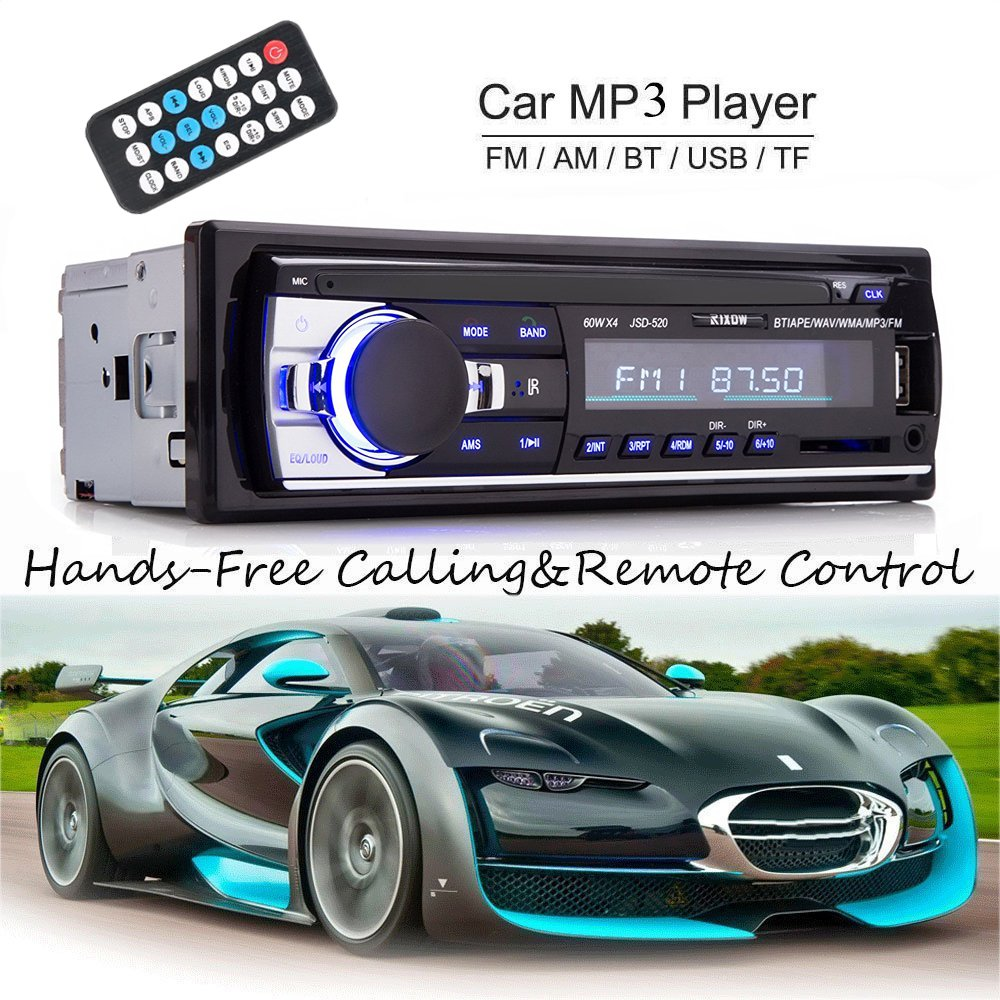 Rixow Bluetooth Vehicle Car Audio Stereo Built-in 12V FM Radio Receiver with MP3 Player and Support USB/SD Input AUX Receiver Including Remote Control Arespark Rixow-Car Audio