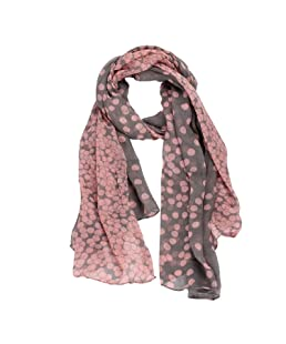 Malloom® Fashion Lady Womens Long Polka Dot Scarf Wraps Shawl Stole Soft Scarves (Pink)