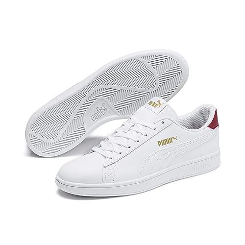 PUMA Smash v2 L Low Boot Sneaker Weiss Schuhe, Größe:41