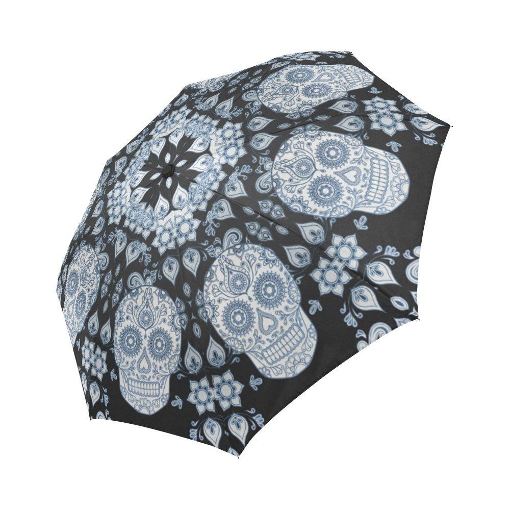 デザインとシュガースカル防風防雨自動折りたたみ式傘、旅行傘コンパクトSun / Rain hot-selling B079GTSKFR
