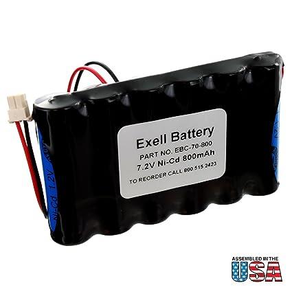 Amazon.com: exell NiCd 7.2 V 800 mAh reemplazo de la batería ...