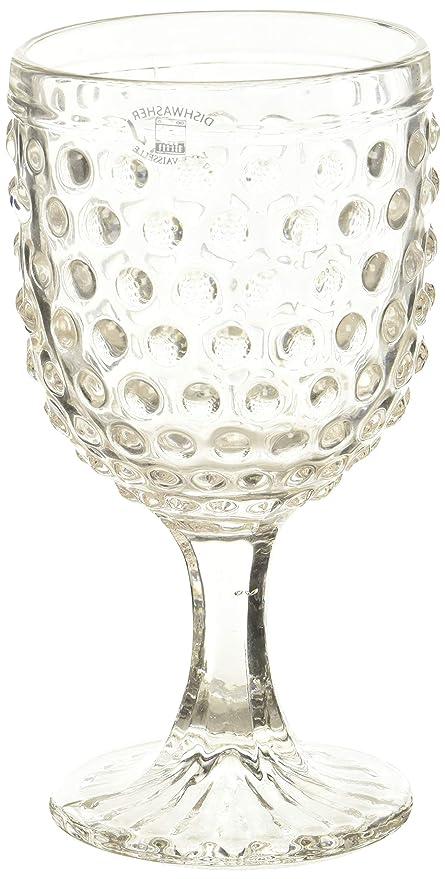 Amazon Com Abbott Collection Hobnail Glass Goblet Wine Glasses