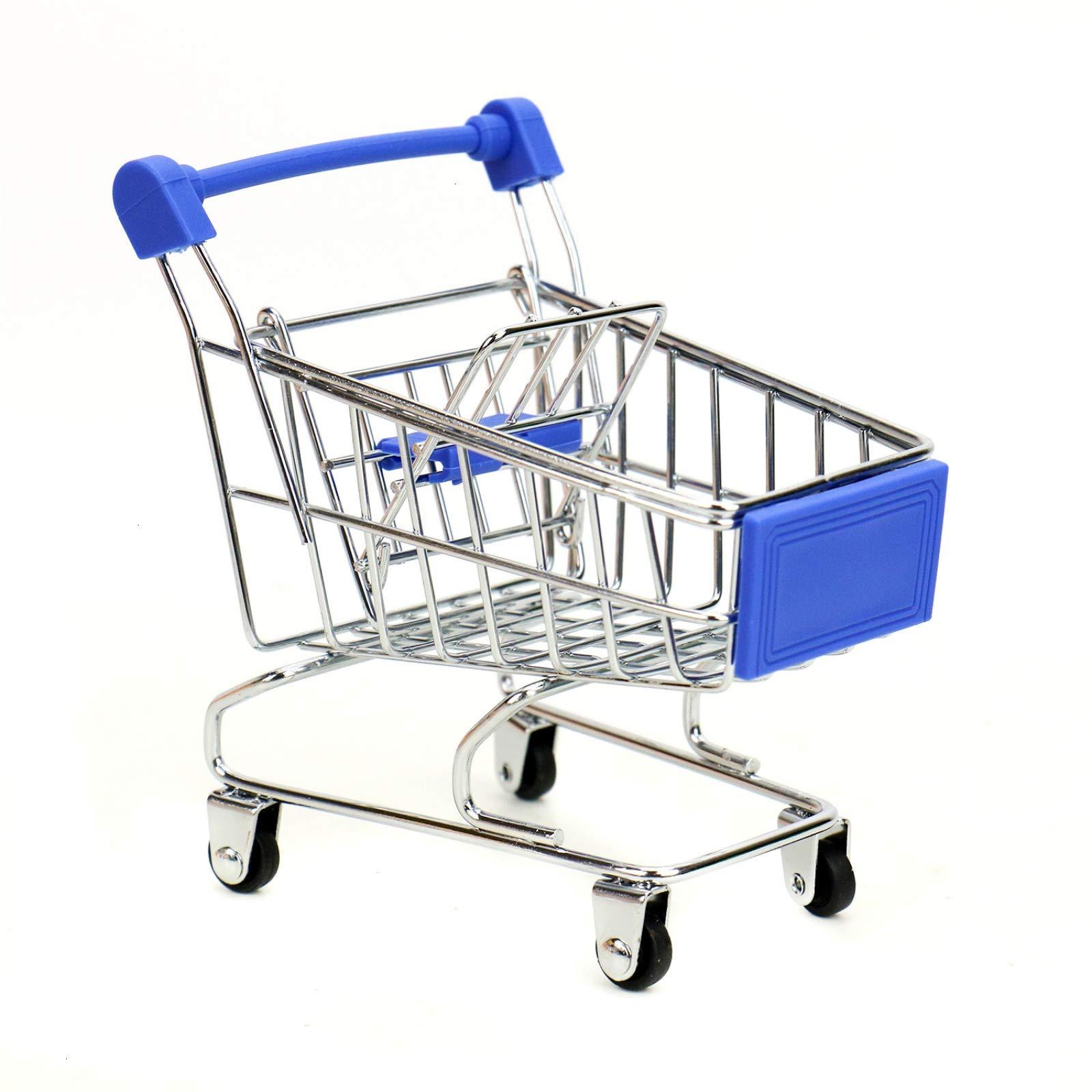 WSSROGY 3 Pack Mini Supermarket Handcart Cart Mode Storage Toy Table Office Novelty Decoration by WSSROGY (Image #6)