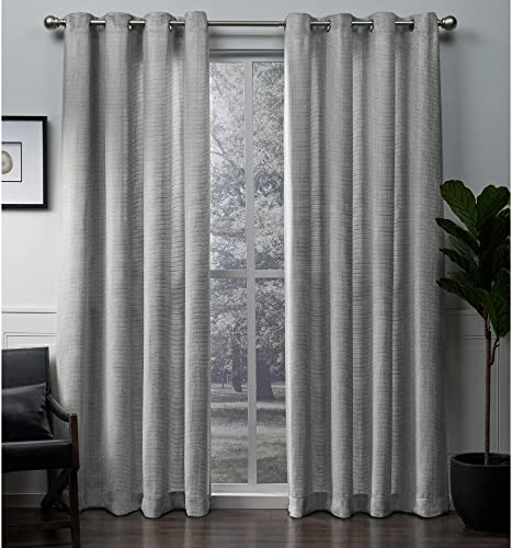Exclusive Home Curtains Winfield Heavyweight Metallic Sheen Treatment Basketweave Window Curtain Panel Pair