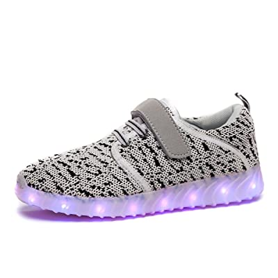 BADIER Kids LED Lighting Shoes Online Boys Light Glow Up Gym Shoes Girls Running Breathable Casual Walking Trainers Sneakers